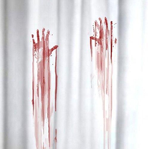 Mags Duschvorhang Blutbad weiß rot 180x180cm