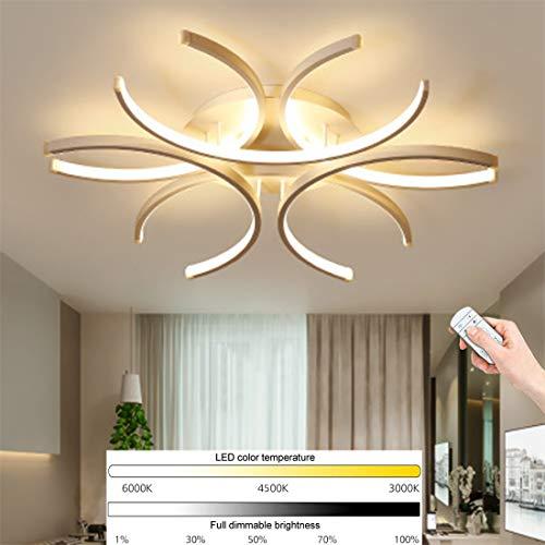 Lámpara De Techo De Montaje Empotrado Con Diseño De Anillo De Luz De Techo LED Moderna Lámpara De Decoración De Dormitorio Blanca Acry Creativa Lámpara Colgante De Marco De Metal Luz 72W