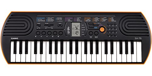 Casio SA-76 44 Key Mini Keyboard, Orange