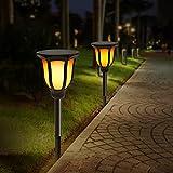 Innoo Tech Solarleuchten für Außen Garten Wegeleuchten mit 3 Lichteffekte, IP65 Wasserdicht, 3 Installationsmethoden, Solarlampe für Garten, Balkon, Wege, 2 Stück