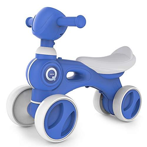 HQYXGS Coche de Equilibrio de Cuatro Ruedas Infantiles, 1-3 años sin pie, Zapatilla, bebé, niños, Juguetes de Coche retorcido, Mejor cumpleaños,Azul