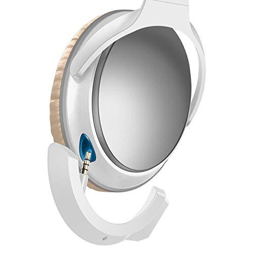 YOCOWOCO Drahtloser Bluetooth 5.0 Adapter für Bose QuietComfort QC25 Kopfhörer, APTX/MIC/Lautstärkeregelung,weiß