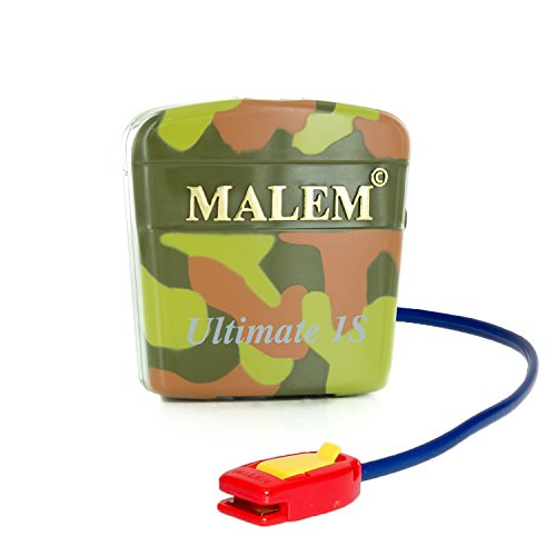Malem Ultimate PRO Selectable Camouflage Bedwetting Alarm for Girls & Boys with Loud Sound and Strong Vibration to Stop Bed Wetting