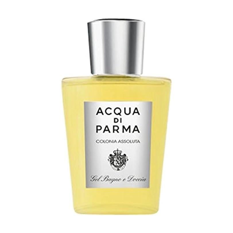 創造弱めるためらうアクアディパルマコロニアAssoluta風呂とシャワージェル (Acqua di Parma) (x6) - Acqua di Parma Colonia Assoluta Bath and Shower Gel (Pack of 6) [並行輸入品]