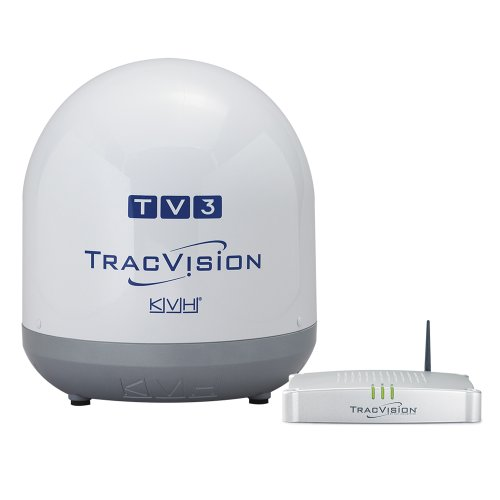 KVH Industries 01-0368-07 TracVision TV3 w/IP-TV Hub Boating Antennas