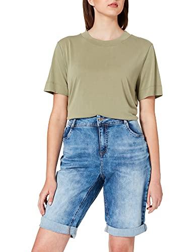 Street One Damen Jane Bermudas/Shorts, Clear Blue Random Bleach, 27