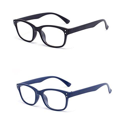 Lesebrillen Herren Damen Trendy Designer +1 +1.5 +2.0 +2.5 +3.0 +3.5 Stärken Vision Care Schwarz Blau