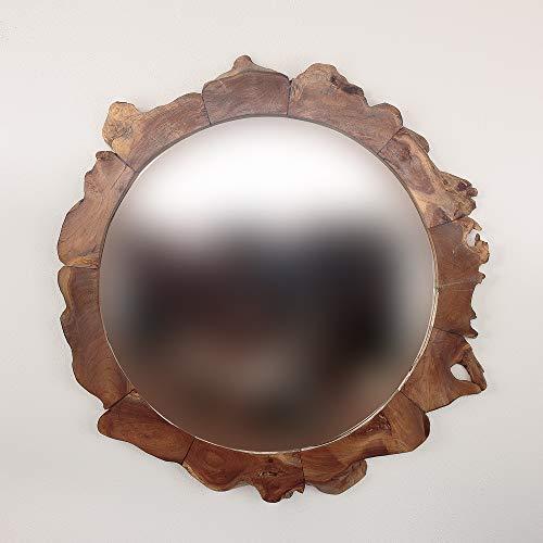 Rococo Espejo Redondo de Madera de Teca Surya de 85cm