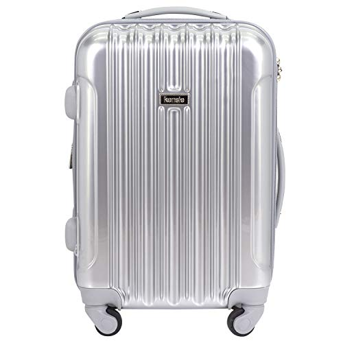 kensie 20' 'Alma' Carry-On TSA-Lock Spinner Luggage, Silver