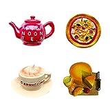 MayuMay Imanes decorativos 3D hechos a mano para frigoríficos, para cocina, decoración de alimentos, juguetes (4 unidades)