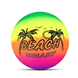 Woorea Bolas de Playa Hinchables de Arcoíris para Niños, Pelota de Playa de Tacto Suave para Interiores y Exteriores, Voleibol para Piscina y Jardín, Entrega Aleatoria
