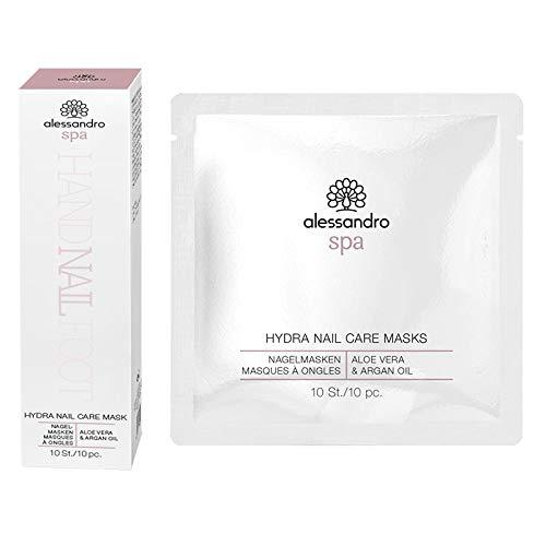 Alessandro Spa Hydra Nail Care Masks - Masque hydratant pour les ongles pour le voyage - Lot de 10-50 ml