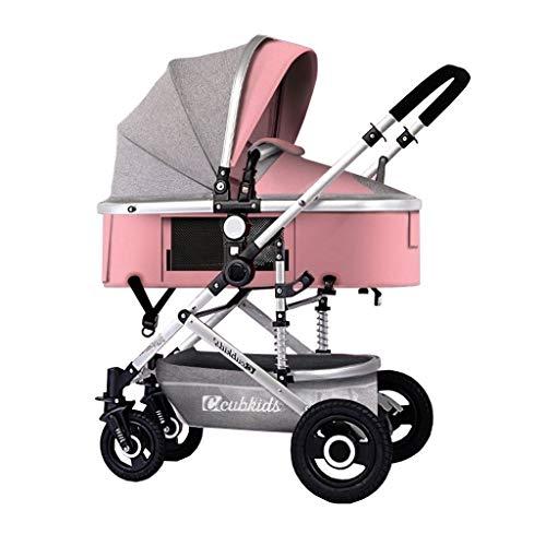 Find Bargain LXJ High Landscape Stroller,Detachable Handle,Aluminum Alloy Frame,one Step on Double B...