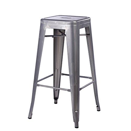 PLL kruk Nordic industriële stijl ijzeren bank creatieve stoel rond grijs.
