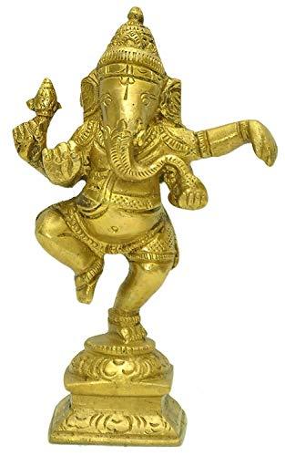 Zap Impex ® Ganesh, Ganpati, Messing Statue Indische Handcrafted Religiöse Skulptur von Ganesha, Antik-Look aus massivem Messing Skulptur Artefakt,...
