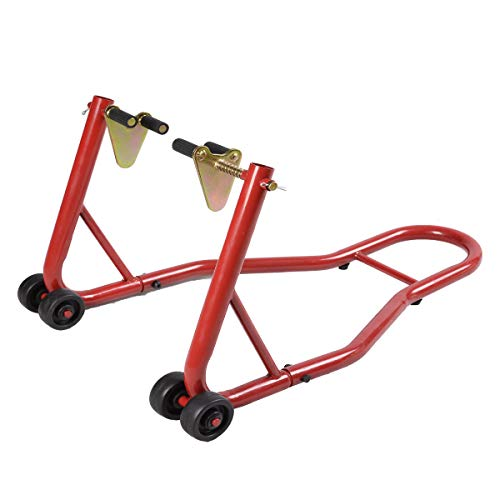 Bestdeal.shop Front Swingarm Lift Head Front Forklift Motorcycle Stand Ideal for Lifting Front End Easier to Clean and Maintenance
