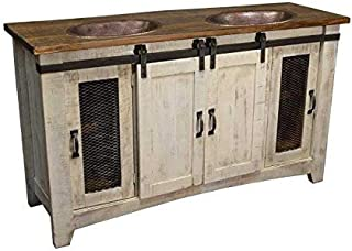 Best rustic double bathroom vanity Reviews