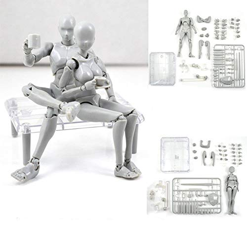 US PVC 6/'/' Young Male Figma Action Figure Body Model Toy  2.0 Flexibale Man Doll