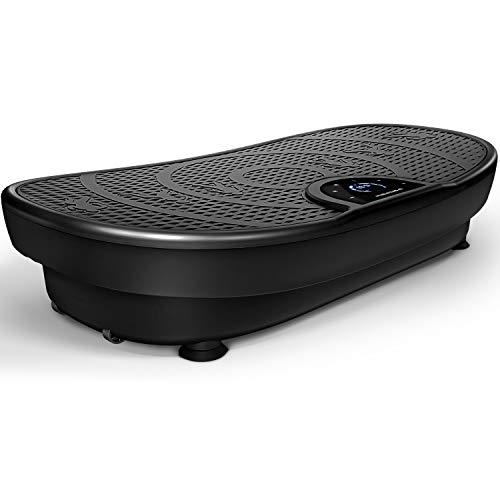 Sportstech novità Fiera VP250 Pedana Vibrante Curved Slim Design Elegante | Consumo Grassi & Formazione Muscolare | Motore Silenzioso 180 Livelli | 7+1 Prgrammi di Allenamento | Bluetooth (Nero)