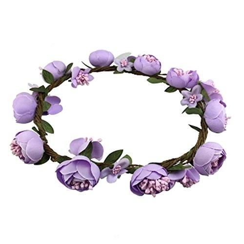 Handgemachte Stirnband Hochzeit Haar Crown k?nstlichen Blumen Kranz, Lila