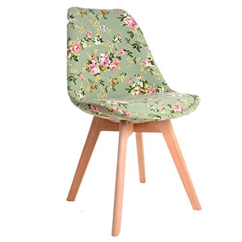 Chaises Chaises de salle à manger en bois massif Chaises de maquillage d'étude occasionnels Chaises de maison simples pour adultes Chaises en tissu Chaises de café Chaises de mode de salle à manger