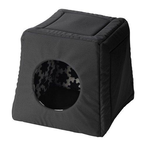 Ikea Lurvig - Cama para Gatos, Color Negro