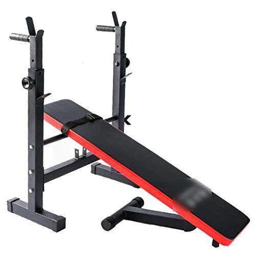 Sit-ups Fitness Stuhl Multifunktionales Gewichtheben Bett Bett Hantel for Bauchmuskeltraining Home Fitness-Hantel Bett (Color : Black, Size : 111 * 58 * 105cm)