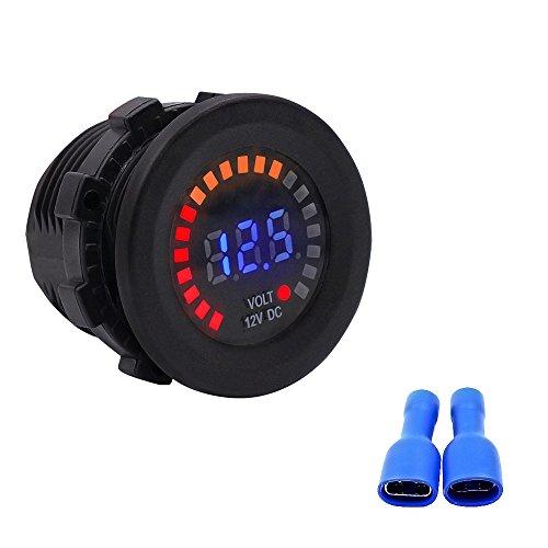 TR Turn Raise 12V DC LED Digitalanzeige Voltmeter Wasserdichte für Auto Motorrad LKW Boot Marine