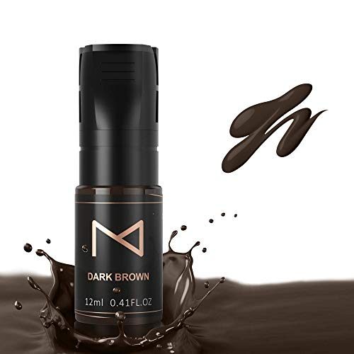 Mellie Microblading M Cosmetic LIQUID Pigment For Eyebrows/Brows Machine Use - Medical Grade - No Mixing - For Professionals Only -12ml (Dark Brown)