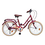 Beetle Vintage, 20T, Single Speed Cycle, Maroon Frame, Ideal for 6-10 yrs, Height: 3.5 feet to 4.5 feet, with Rear Carrier, Retro Looks, Vintage Saddle & Handlebar, red