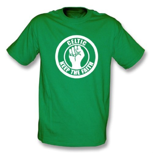 Punk Football Celtic Keep the Faith T-shirt XX-Large Kelly Green