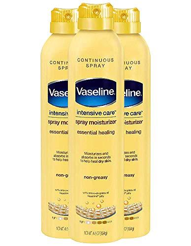 Vaseline Intensive Care Spray Moisturizer Essential Healing, 6.5 oz ( Pack of 3)