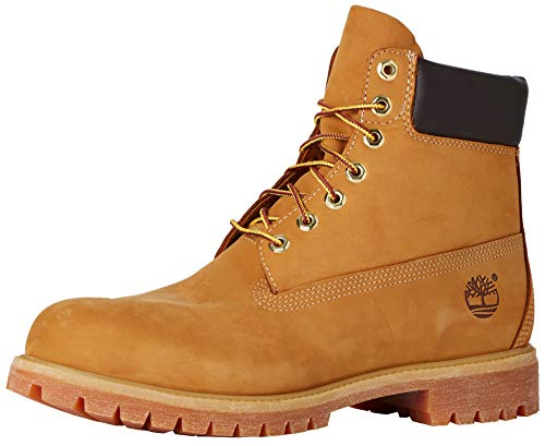 Timberland Mens 6' Premium Waterproof Boot Wheat Nubuck Leather 10.5 D (M)