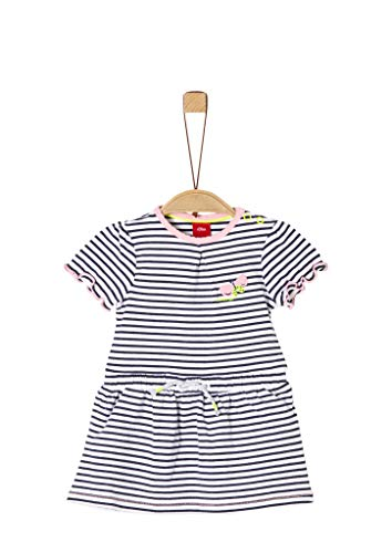 s.Oliver Junior Baby-Mädchen 405.10.004.20.200.2038008 Kinderkleid, 57G10 Blue Stripes, 86
