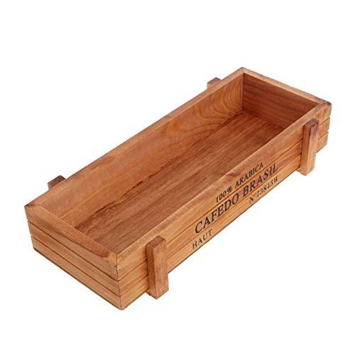 EOPER - Cajas de Madera rectangulares para Plantas, macetas y Verduras, Madera, marrón,...