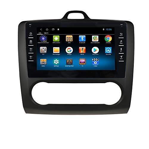 1+16GB Android 10 Car GPS Radio Stereo con 8 Pulgadas 1080P Pantalla táctil Compatible con Ford Foucs Exi AT 2004-2011 Soporte Bluetooth Control del Volante Negro