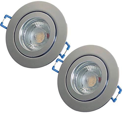 LED Bad Einbaustrahler 12V inkl. 2 x 3W LED LM Farbe Chrom IP44 LED Einbauleuchten Neptun Rund 4000K Deckenspots