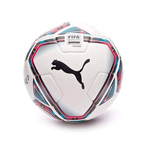 PUMA Team Final 21.3 FIFA Quality Ball, Balón, White-Rose Red-Ocean Depths Black