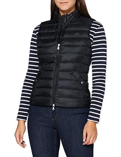 GANT Damen D1. Light Padded Gilet Jacke, Black, M