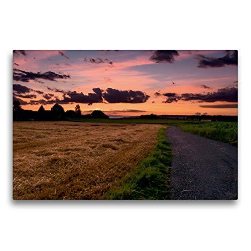 CALVENDO Premium Textil-Leinwand 75 x 50 cm Quer-Format Letztes Tageslicht bei Niederbottigen, Leinwanddruck von Thomas Wahli