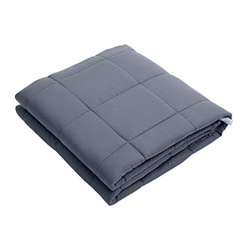 Yuoko Cotton Weighted Blanket 20 lbs for Adults Kids with Glass Beads Warm Heavy...