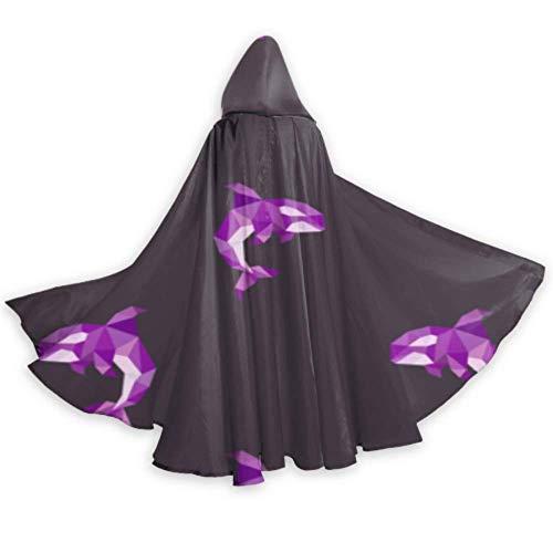 ALALAL Moda Delicioso Divertido pez Calamar Capa Disfraz Adulto Capa con Capucha 59 Pulgadas para Navidad Halloween Cosplay Disfraces