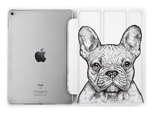 Black and White French Bulldog Trifold Magnetic Case for Apple iPad Mini 1 2 3 4 5 Air 2 3 Pro 9.7 10.5 11 12.9 9.7 inch 2017 2018 2019
