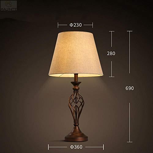 Lampada da tavolo in legno massello lampada da tavolo da salotto in stile rustico lampada da comodino camera da letto lampada da tavolo decorazione d'interni lampada-A