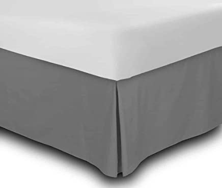 featured product Sheetstreasure 500TC Sateen Bed-Skirt - 100% Egyptian Cotton - Durable,  Comfortable And Abrasion Resistant Queen Grey