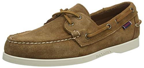 Sebago Docksides Portland Suede, Men's 7000G90 Boat Shoes (Brown Cognac 907) 10 UK