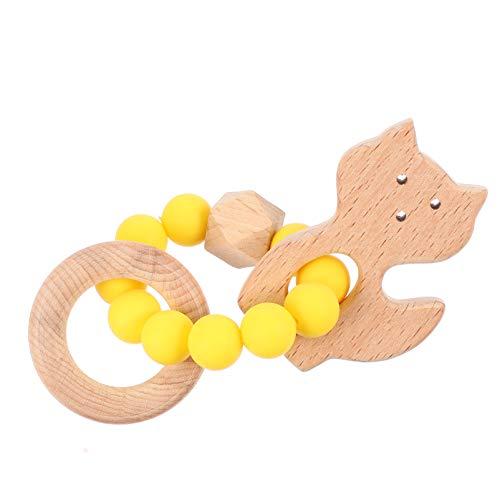 EXCEART Mordedor de Juguete para Bebés Juguetes Molares de Silicona para Aliviar El Dolor Mordedor de Entrenamiento para Niños Pequeños 1 Pieza (Amarillo)