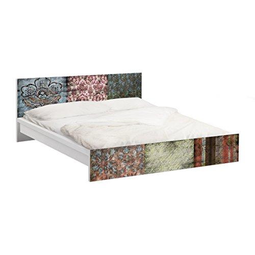 Apalis Vinilo Adhesivo para Muebles IKEA - Malm Bed Low 140x200cm Old Patterns, Größe:77cm x 157cm