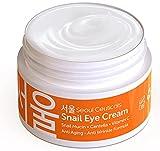 Korean Skin Care Snail Eye Cream - 97.5% Snail Mucin Korean Beauty Skincare Anti Aging Under Eye Cream With Cica Centella Asiatica - Extremely Effective Anti Wrinkle Eye Treatment Cream .5 ounce