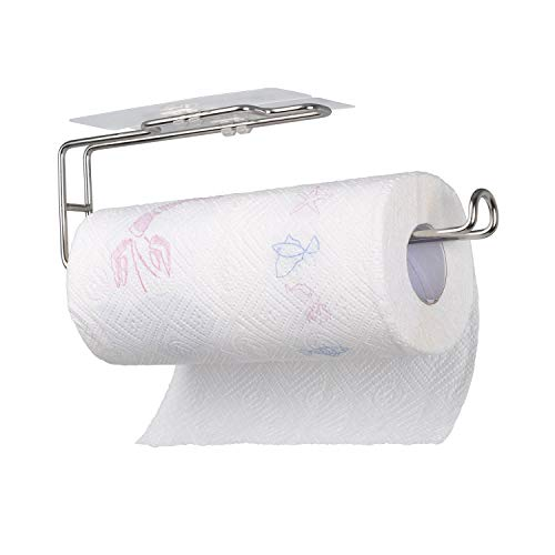 Under Cabinet Paper Towel Holder,ECROCY Paper Towel Rack,Wall Mount and No Drilling - Stainless Steel